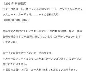 ロディスポットの2021-福袋2